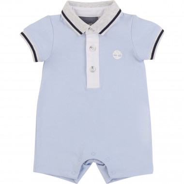 Cotton polo-neck playsuit TIMBERLAND for BOY