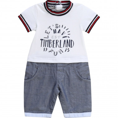 2-in-1 cotton playsuit TIMBERLAND for BOY