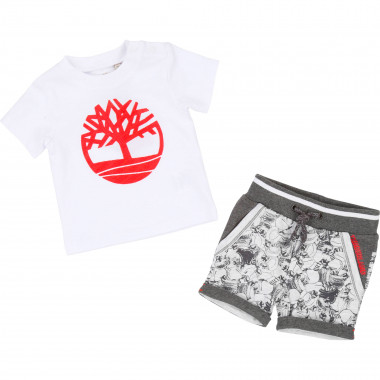 Cotton T-shirt and shorts set TIMBERLAND for BOY