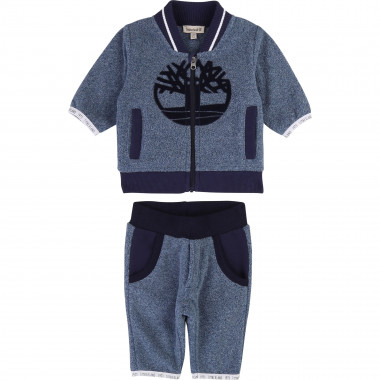 Heathered fleece jogging set TIMBERLAND for BOY