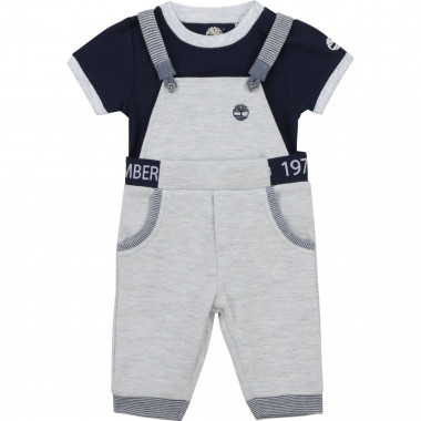 Overalls and T-shirt set TIMBERLAND for BOY