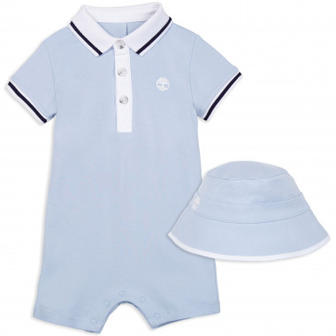 Romper and bucket hat set TIMBERLAND for BOY