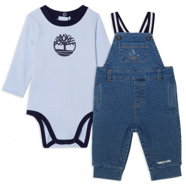 Organic-cotton dungarees and onesie TIMBERLAND for BOY