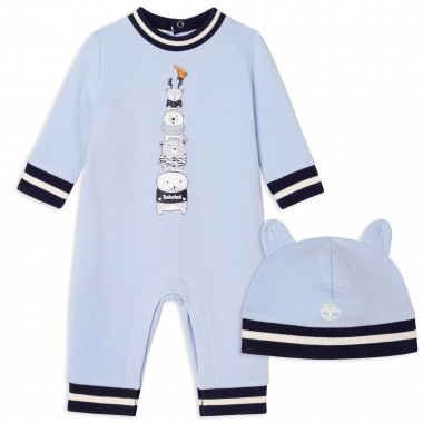 Organic cotton romper + hat TIMBERLAND for BOY