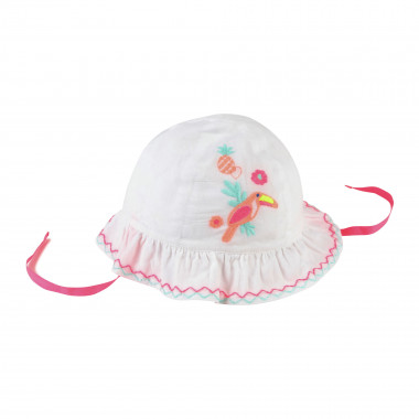 Embroidered cotton bucket hat BILLIEBLUSH for GIRL