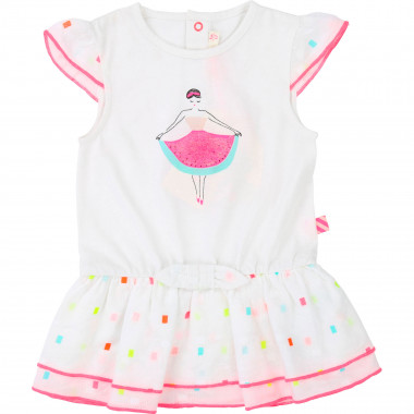 Dual-material bow dress BILLIEBLUSH for GIRL