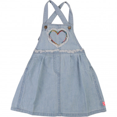 Denim strappy dress with heart BILLIEBLUSH for GIRL