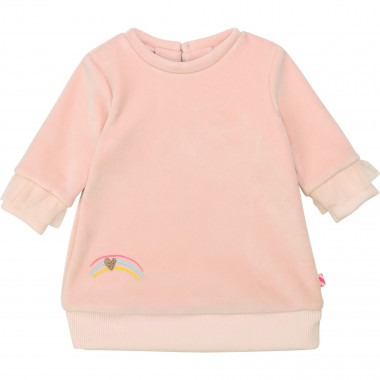 Soft fleece dress with ruffles BILLIEBLUSH for GIRL