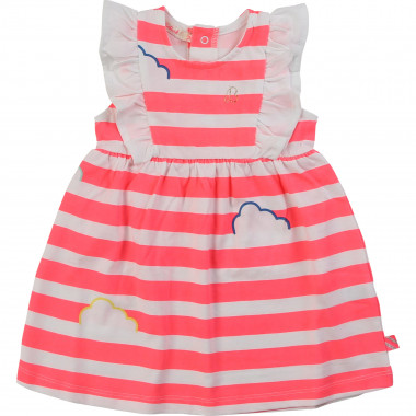 Striped cotton jersey dress BILLIEBLUSH for GIRL