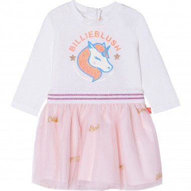 Tulle and jersey dress BILLIEBLUSH for GIRL