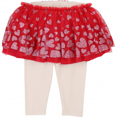 Tulle print skirt and leggings BILLIEBLUSH for GIRL