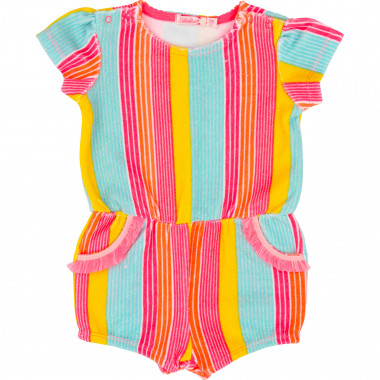 Striped terry romper BILLIEBLUSH for GIRL