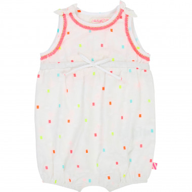 Square pattern cotton romper BILLIEBLUSH for GIRL