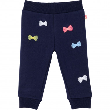 Fleece jogging bottoms with bows BILLIEBLUSH for GIRL