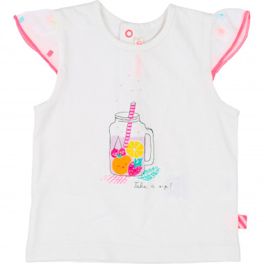 Printed sleeve cotton T-shirt BILLIEBLUSH for GIRL