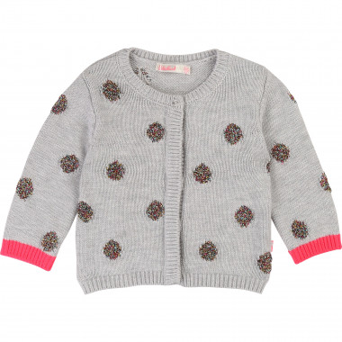 Jacquard polka-dot cardigan BILLIEBLUSH for GIRL