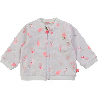 Printed fleece cardigan BILLIEBLUSH for GIRL