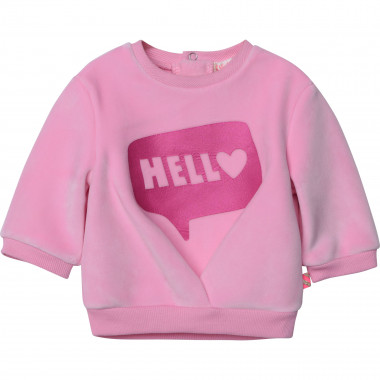 Velvet fleece jumper BILLIEBLUSH for GIRL