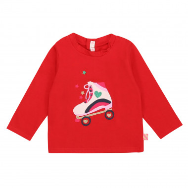 Printed cotton long-sleeve top BILLIEBLUSH for GIRL
