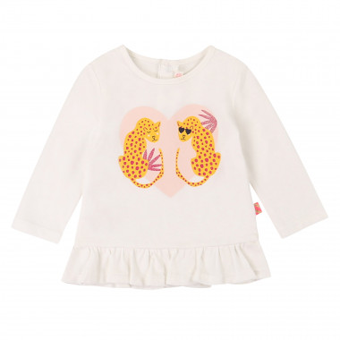 Cotton frilled long-sleeve top BILLIEBLUSH for GIRL