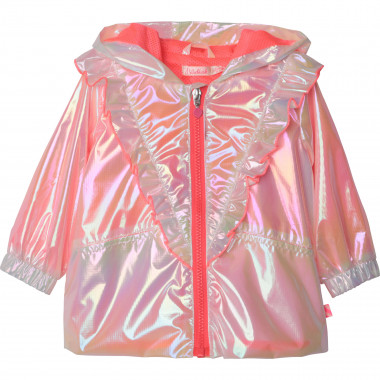 Hooded iridescent windbreaker BILLIEBLUSH for GIRL