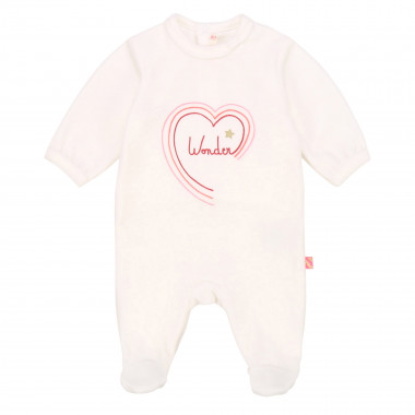 Velvet printed onesie BILLIEBLUSH for GIRL