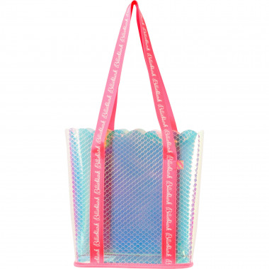 Textured iridescent PVC tote BILLIEBLUSH for GIRL