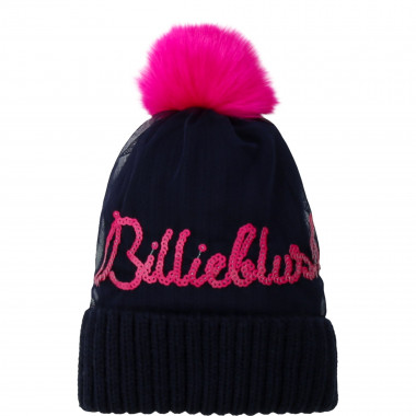 Large-knit pompom hat BILLIEBLUSH for GIRL