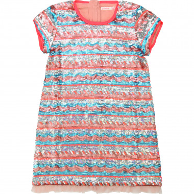 Dual-material dress BILLIEBLUSH for GIRL