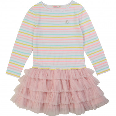 Striped dual-material dress BILLIEBLUSH for GIRL