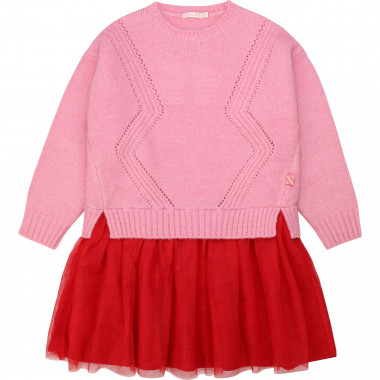 Tulle and knitted dress BILLIEBLUSH for GIRL