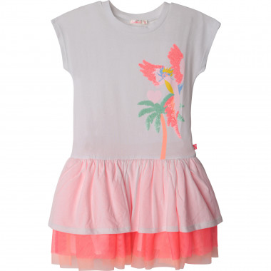 Frilled dual-material dress BILLIEBLUSH for GIRL