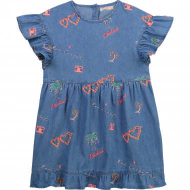 Embroidered denim dress BILLIEBLUSH for GIRL