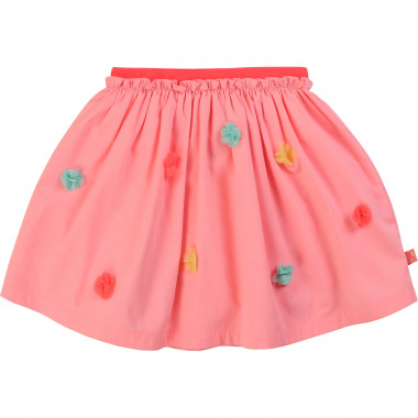 Poplin skirt with pompoms BILLIEBLUSH for GIRL