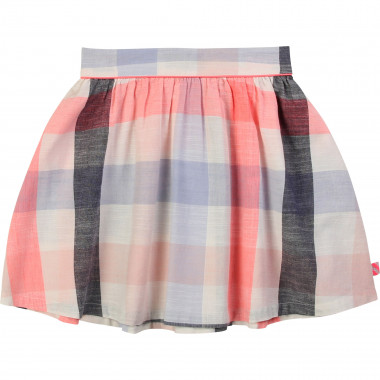 Checked cotton canvas skirt BILLIEBLUSH for GIRL