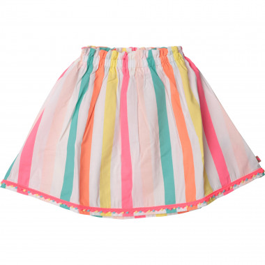 Striped skirt with pompoms BILLIEBLUSH for GIRL