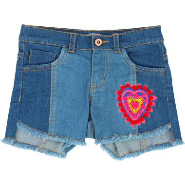 Two-tone jean shorts BILLIEBLUSH for GIRL
