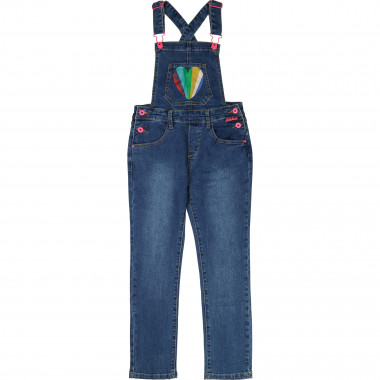 Stretch denim dungarees BILLIEBLUSH for GIRL