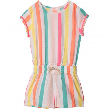 Striped playsuit with pompoms BILLIEBLUSH for GIRL