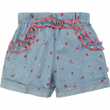 Printed chambray shorts BILLIEBLUSH for GIRL