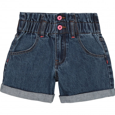 Denim elasticated-waist shorts BILLIEBLUSH for GIRL