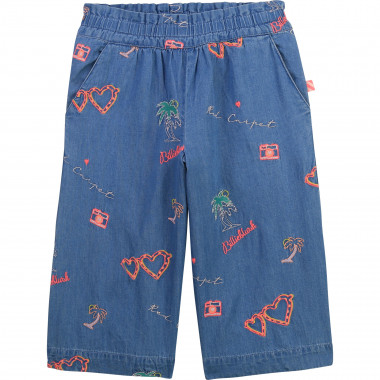 Embroidered denim culottes BILLIEBLUSH for GIRL