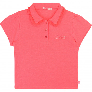 Piqué polo shirt with frills BILLIEBLUSH for GIRL