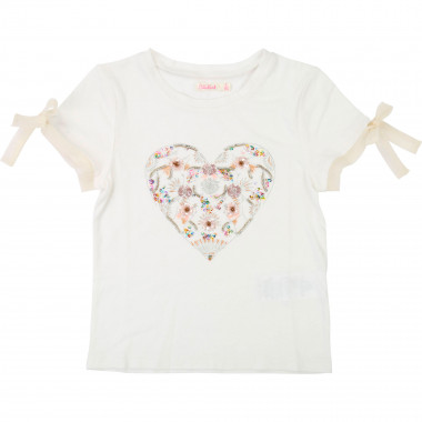 Embroidered heart T-shirt BILLIEBLUSH for GIRL