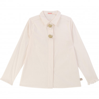 Stretch poplin shirt BILLIEBLUSH for GIRL