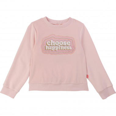 Fleece sweatshirt with print BILLIEBLUSH for GIRL