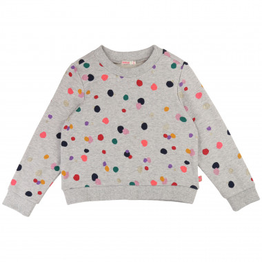 Spotted fleece sweatshirt BILLIEBLUSH for GIRL