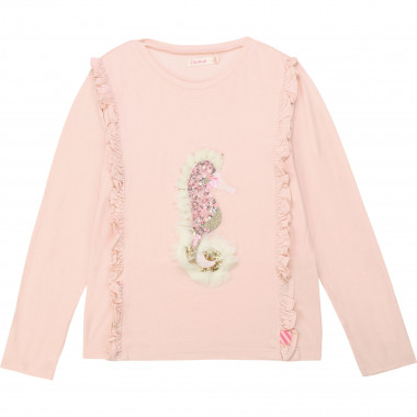 Frilly t-shirt with fur detail BILLIEBLUSH for GIRL