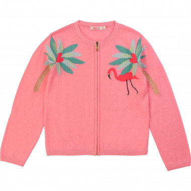 Zipped tricot cardigan BILLIEBLUSH for GIRL