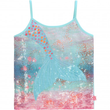 Cotton vest top with sequins BILLIEBLUSH for GIRL